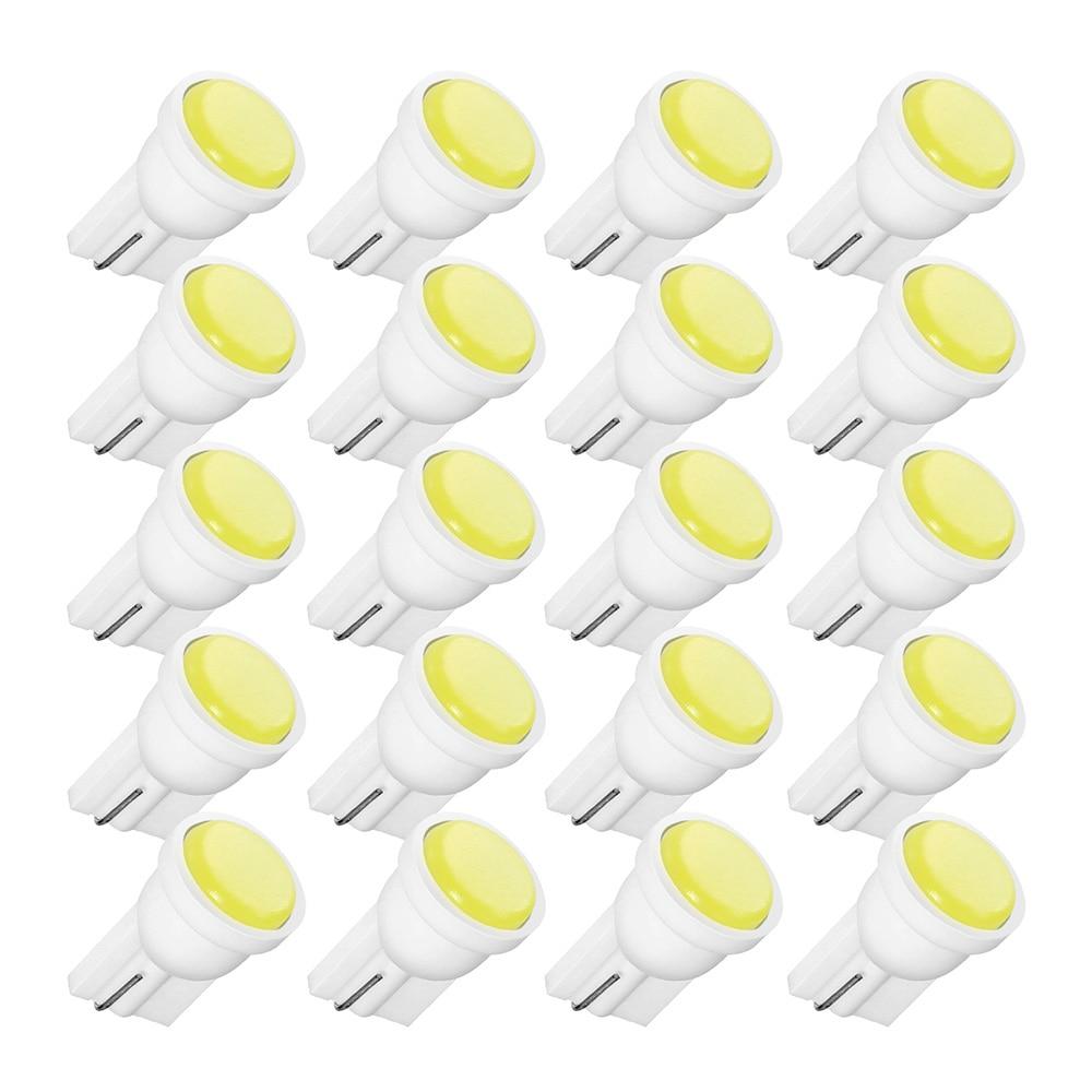 20PCS T10 Car White LED 194 168 SMD W5W Wedge Side Light Bulbs Car External Clearance Lights Led 12V Wedge Side Bulbs Lamp