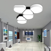 Modern Minimalist Office Ceiling Led Creative Living Room Bedroom Combination Lamp Bubble Balcony Geometric Ceiling Lamp
