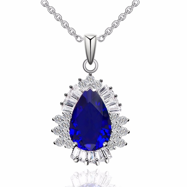 Aliexpress buy luxurious teardrop zircon crystal pendant luxurious teardrop zircon crystal pendant necklace 162 fashion jewelry for party aloadofball Gallery