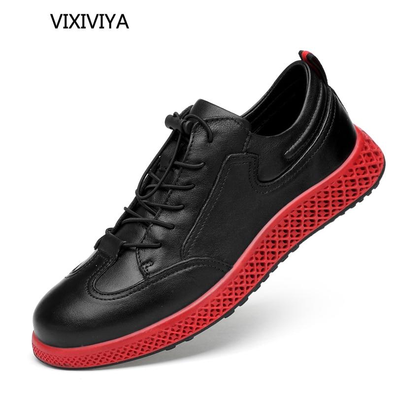 2018 nieuwe mannen casual schoenen ademend loafers zwart platform man - Herenschoenen