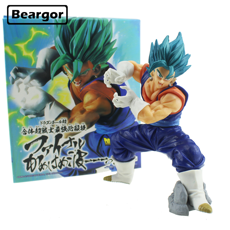 18cm Dragon Ball Z Super Saiyan God Vegeta Blue Hair Final Kamehameha Dragonball Pvc Action Figure Collection Model Toy Gift Toys & Hobbies