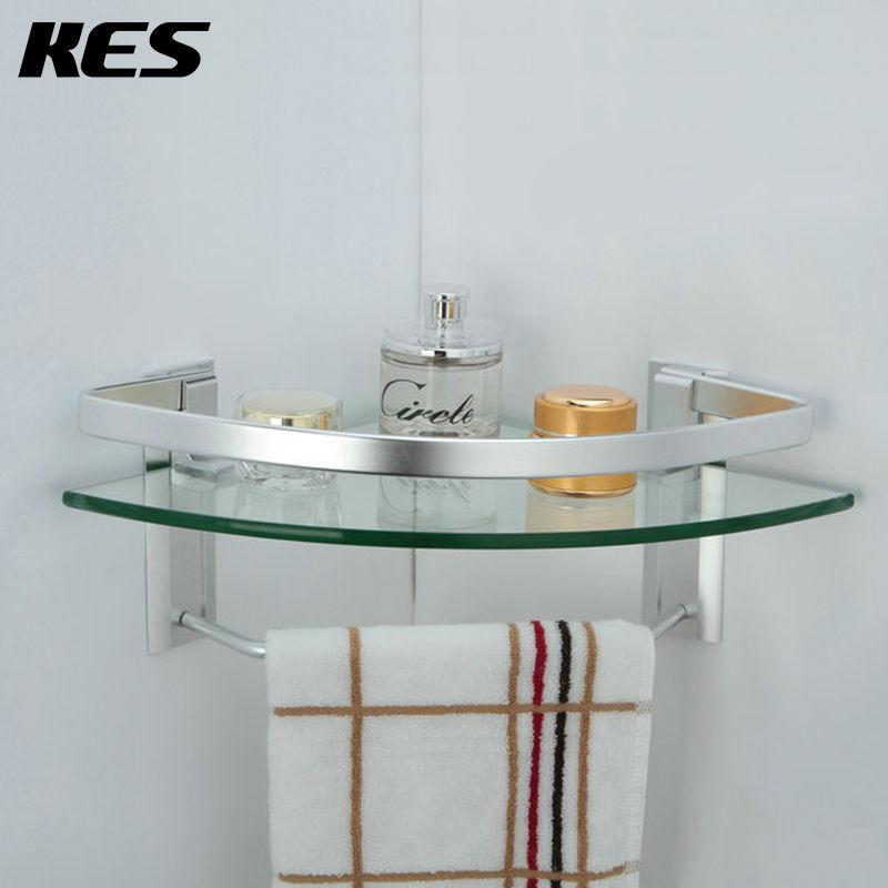 Glass Corner Shelf Bathroom