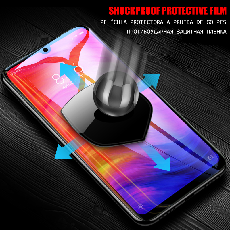 6D Full Cover Soft Hydrogel Film For Xiaomi Redmi Note 7 6 Pro 5 4 4X Screen Protector For Redmi 7 6 6A 4X Soft Film Not Glass