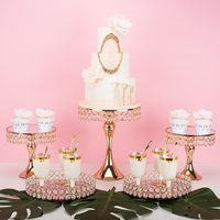 fashion Luxury Cake wedding centerpieces metal stand makeup decorating rack cake decorating dessert table drinking candy holder
