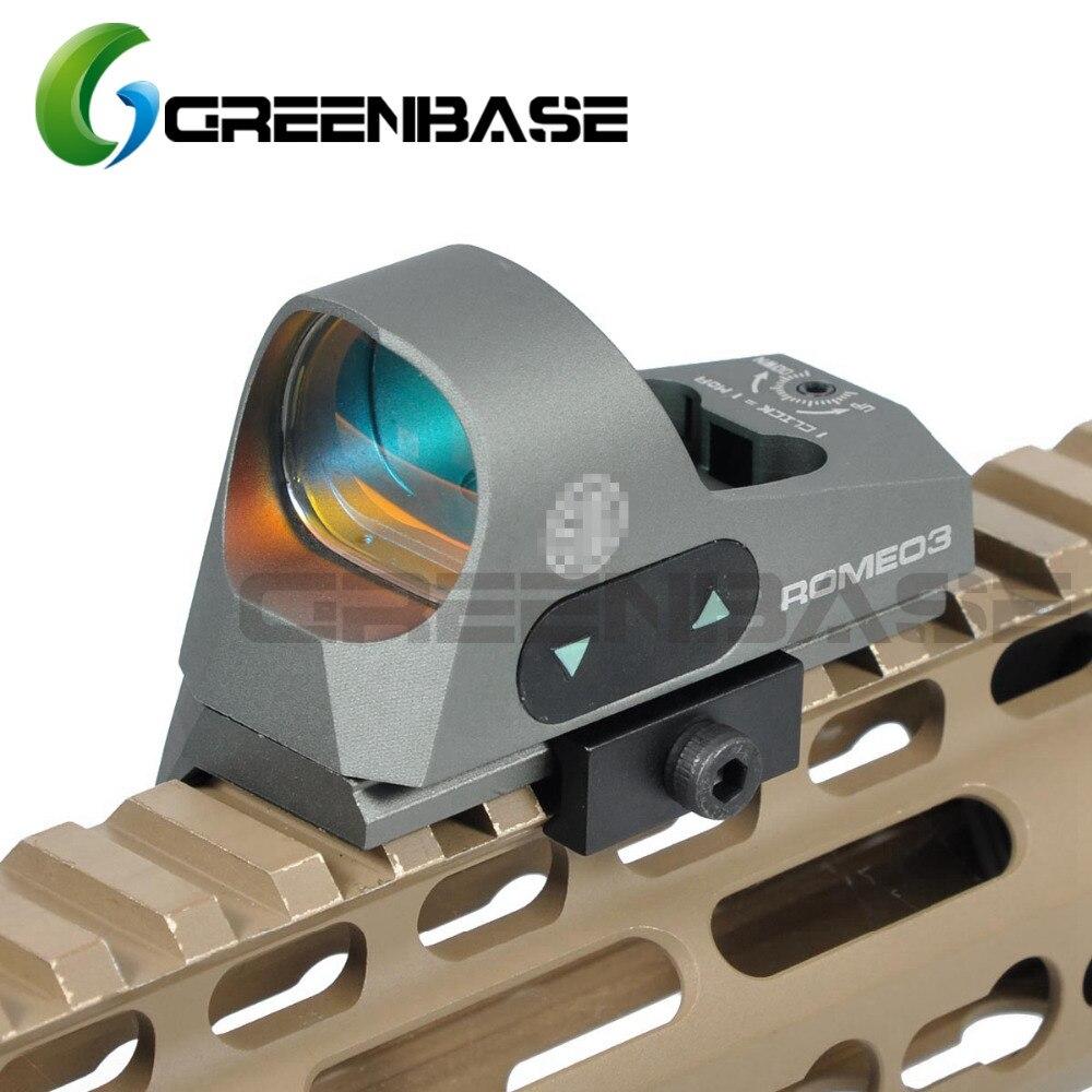 Greenbase 3 MOA Mini Red Dot Sight Airsoft Reflex Sight 1x25 Reticle Red Dot Scope W