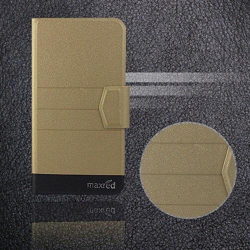 5 цветов хит! Кожаный чехол для телефона Digma LINX Atom 3g, заводская цена, защитный полностью откидной кожаный чехол с подставкой для телефона s - Цвет: Gold