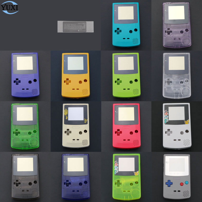 YuXi Limited Edition Housing Shell Cover For Nintendo For GameBoy Color GBC Console Case Pack