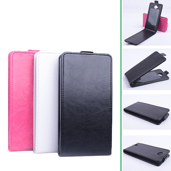 Luxury Flip Leather Cover Case for Fly IQ4418 IQ 4418 ERA Style 4 Vertical Back Cover Magnetic Phone Case Open Up and Down