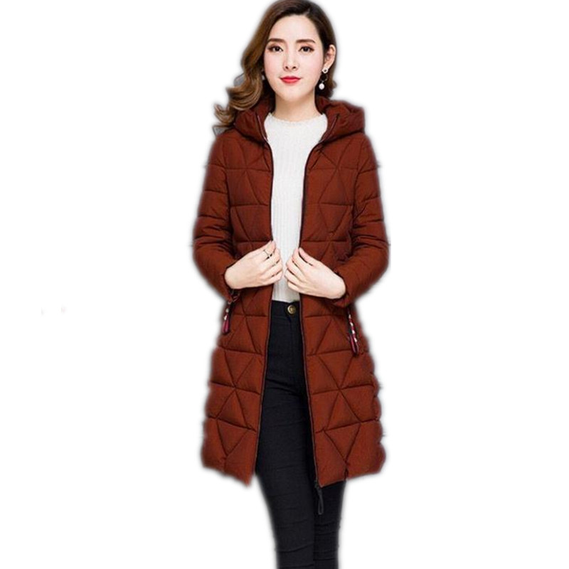 Plus Size 6XL Light&Thin 2019 Autumn Winter Women Jackets Female Down Cotton Jacket Slim Outerwear Casual Female Parkas Top Q595