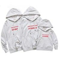 Good Cotton Sweatshirt Matching Family Clothes Mother Father Son Clothing Family Matching Outfits Red White Sweatshirt