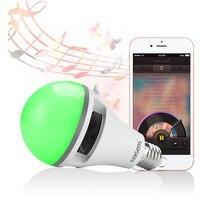 Texsens Smart RGB LED Music APP Light 10W Lamp E27 RGB Wireless Bluetooth Speaker Bulb Music Playing 2 in 1 Design APP Control