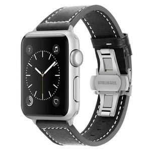 Image 4 - iWonow Leather Watchband for iWatch Apple Watch 38mm 40mm 42mm 44mm Series 5 4 3 2 1 Men Women Band Sports Strap Wrist Bracelet