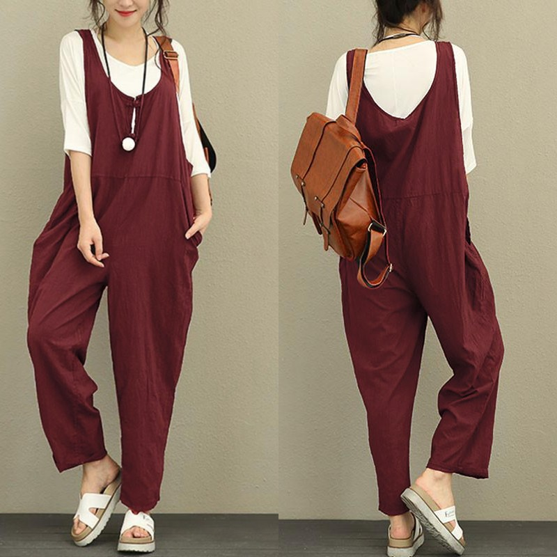f852a726bd90 2018 Retro Linen Rompers Pants Womens Vintage Jumpsuit Female Backless  Overalls Strapless Playsuit Women Pantalon HTB15xhTalfM8KJjSZFrq6xSdXXaU ...