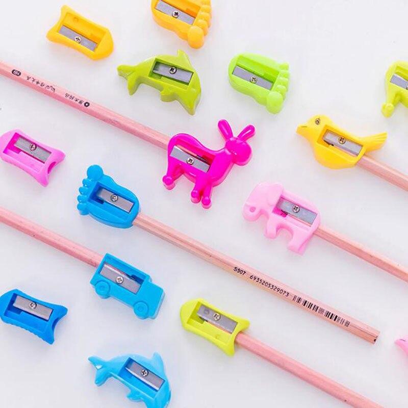 Radient Nette Mini Bleistiftspitzer Tier Auto Vogel Elefanten Fisch Delphin Footprint Esel Kinder Spielzeug Schule Bürobedarf Schreibwaren