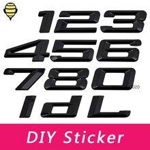 אביזרי רכב שחור DIY תג מדבקות מספר מדבקות עבור BMW 420i 425i 118i 120i 125i 530Li 535Li 760Li 740Li 730Li 750Li