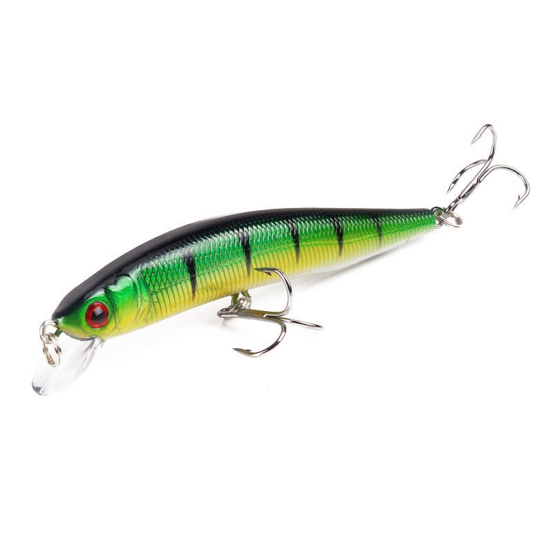 10cm 15.3g Isca Artificial Minnow Fishing Bait Lures Crankbait Wobblers Hard Bait With 2 Carbon Steel Hook For Sea Fishing