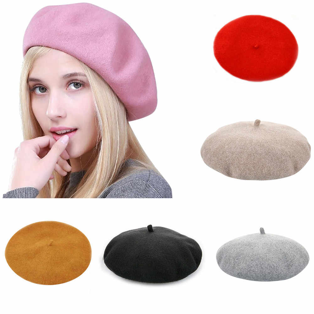 1bbf53180 KANCOOLD Winter Beret Female Hats For Women Flat Cap Women British Retro  Outdoor Leisure Octagonal Painter Hat Lady Girl PJ0925