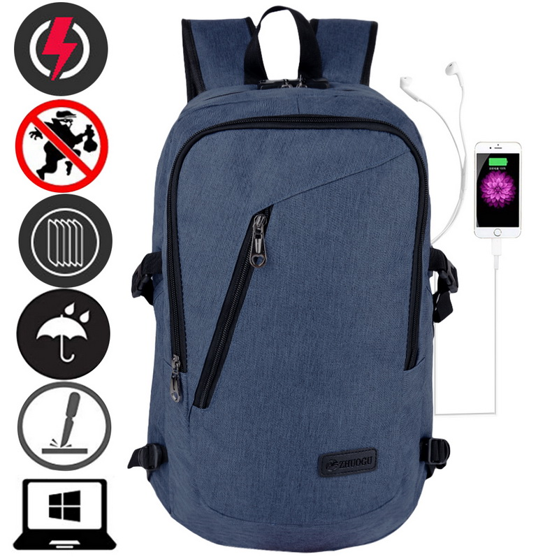 Brand Man Laptop Backpack Usb Charging Computer Backpacks Ca