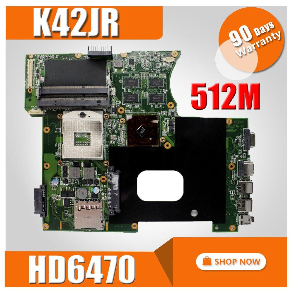 K42JR Motherboard REV4.1 512 M HD6470 For ASUS K42JZ K42JE K42JK Laptop Motherboard K42JR Mainboard K42JR Motherboard Test OK