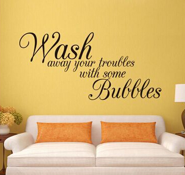 DIY Wall Sticker Lettering with Wash Away Your Troubles Waterproof ...