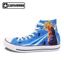 Аниме Dragon Ball Гохан Супер Saiyan Converse All Star Для женщин Мужская обувь пользовательские Дизайн ручной росписью обувь мальчики девочки кроссовки