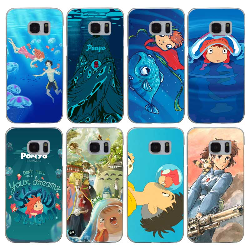 G223 Ponyo On The Cliff Transparent Hard PC Case Cover For Samsung Galaxy S 3 4 5 6 7 8 Mini Edge Plus Note 3 4 5 8