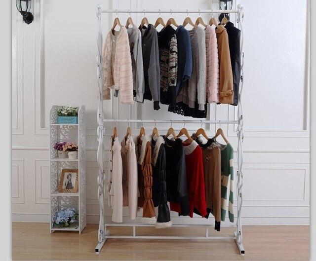 Boda de hierro de rack bastidores de ropa isla pantalla estante ropa ...