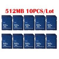 10 pçs/lote Preço de Atacado Padrão SD Card 256MB 512 MB GB 2 1GB SD Secure Digital Cartão de Memória Flash Tarjeta Carte Frete Grátis