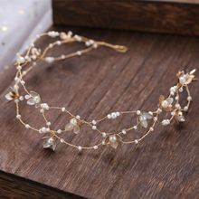 Korean high-end handmade flowers Beaded bride headdress hairband elegant small jewelry Princess wedding hair decoration
