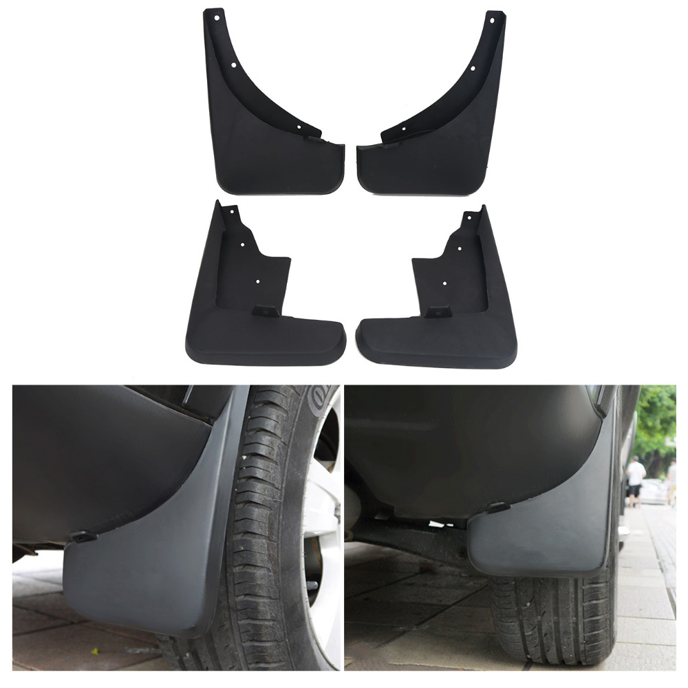 For Jeep Accessories Mud Flaps for Jeep Compass 2007-2010 Car Exterior Front & Rear Molded Splash Guards Mudguards RA003 fit for jeep wrangler jk 2007 2015 mudflaps mud flap splash guard mudguards front rear fender accessories