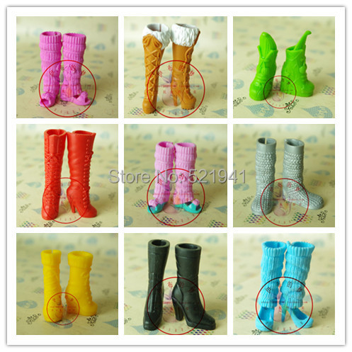 Free Shipping,New 10pairs boots doll accessories fashion Shoes Boot For Barbie Doll
