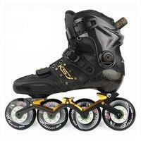 Japy Оригинал SEBA KSJ Shadow Профессиональные Инлайн ролики для слалома углеродного волокна обувь для роликов, скейтборда легкое, приятное катание