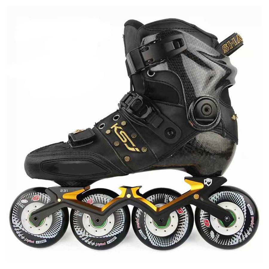 Japy Original SEBA KSJ Shadow professionnel Slalom patins à roues alignées en Fiber de carbone chaussures de patinage à roulettes coulissantes Patines libres