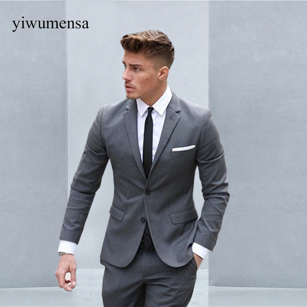 yiwumensa Custom made men suit terno masculino Gray costume homme ...