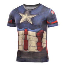 Fitness Tshirts 3D Spiderman Tops 2017 Superhero T-shirts Compression Quick Dry T shirts Summer Superhero Tees 2017