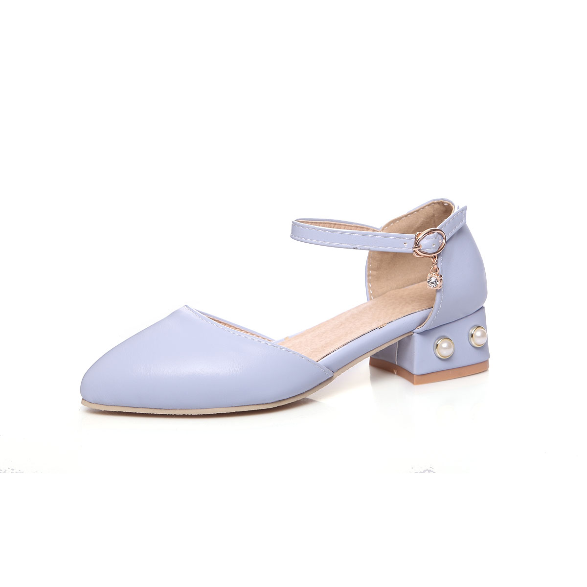 Ldhzxc New Femmes Sangle Sandales Bout Talon blanc Doux Loisirs rose Chaussures Bleu 2018 Boucle Carré Sweety r5tIwv5x