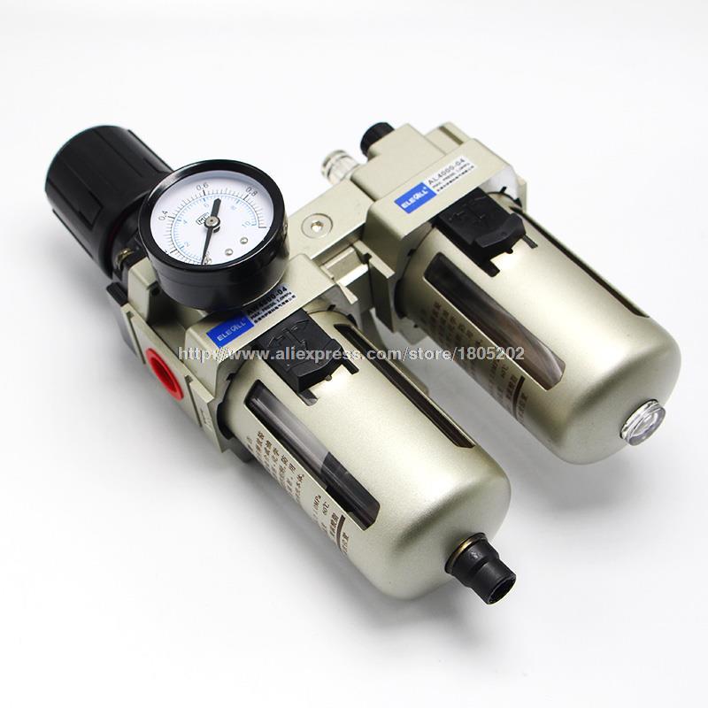 AC4010 04 1/2 inch Pneumatic FR Air Filter Regulator Combination AW4000 04 AL4000 04 Pressure Regulating Filter(FR) Lubricator