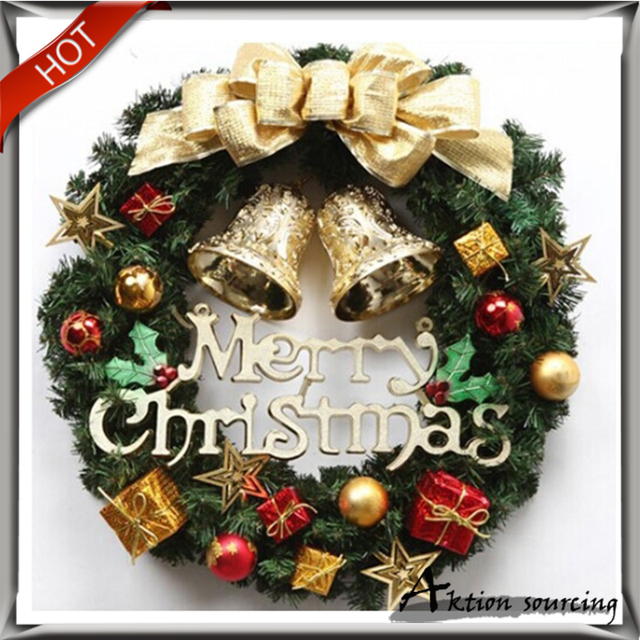 free shpping hot sale christmas decorations wreath door decoration hotel window market props christmas diy gift