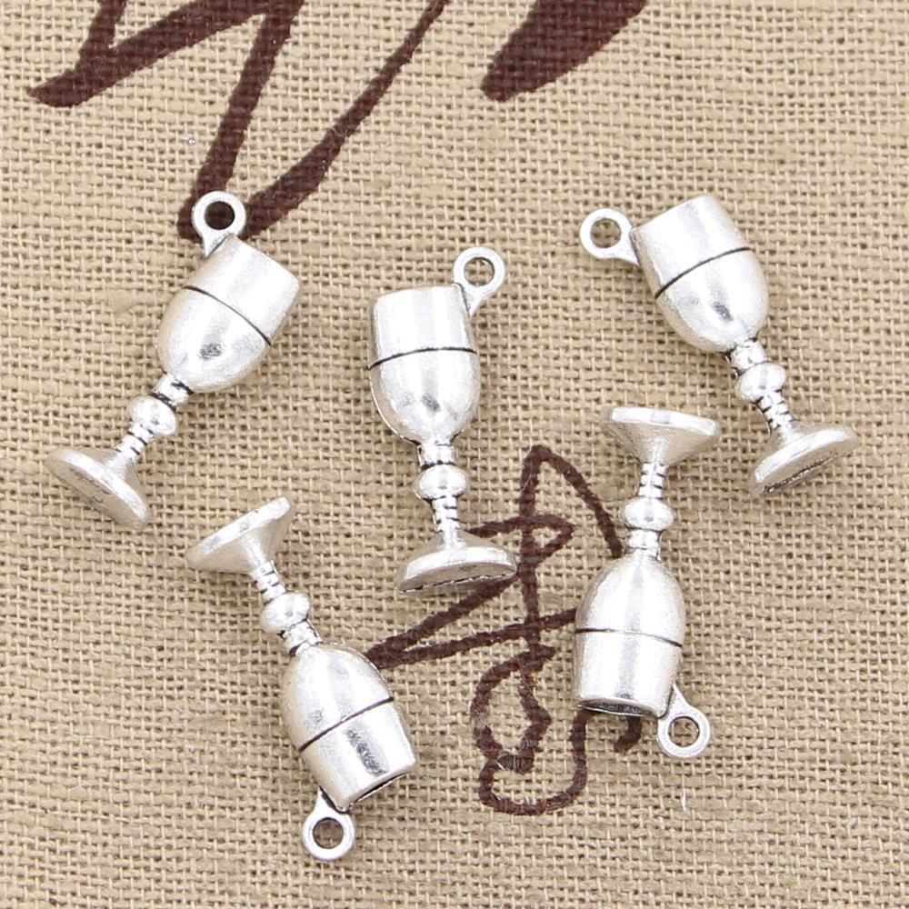 20pcs <font><b>Charms</b></font> <font><b>wine</b></font> <font><b>glass</b></font> 20*7*5mm <font><b>Antique</b></font> pendant fit,Vintage Tibetan <font><b>Silver</b></font>,DIY for bracelet necklace