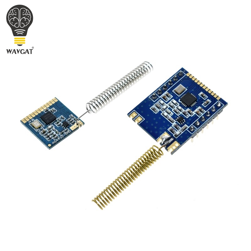 1 Set Mini SI4432 Remote Wireless Transceiver Communication Module 240MHZ-930MHZ + Spring Antenna, Distance 1000m