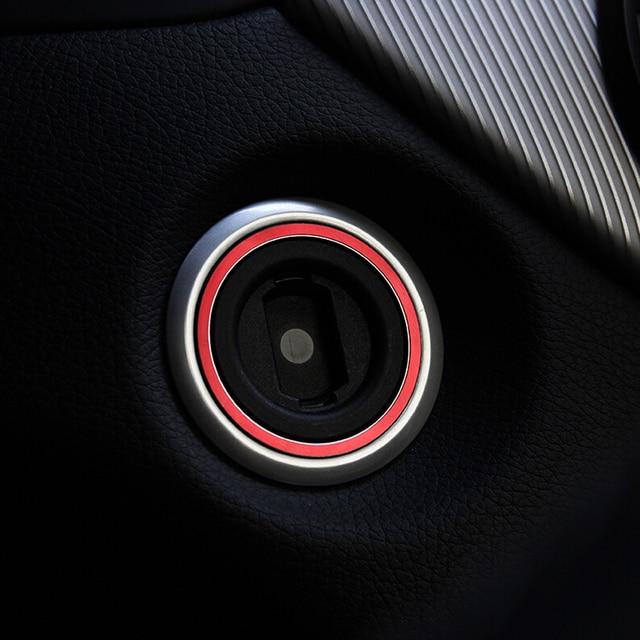 En aluminium Moteur de Démarrage De Voiture Commutateur D'allumage Anneau De Couverture Pour Mercedes Benz AMG Glk Ml Gl Cla Gla Cls Rouge Bleu couleur 1 pc
