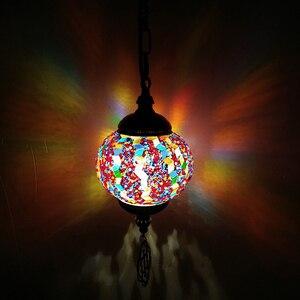 Image 5 - WOERFU Mosaico Lampade A Sospensione Turco Retro Illuminazione E27 Bar Ristorante Chiaro Bar Luce Del Pendente Mediterraneo