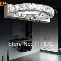 hot sales minimalist deisgn crystal wall lamp modern LED light AC110 220V crystal bathroom sconces
