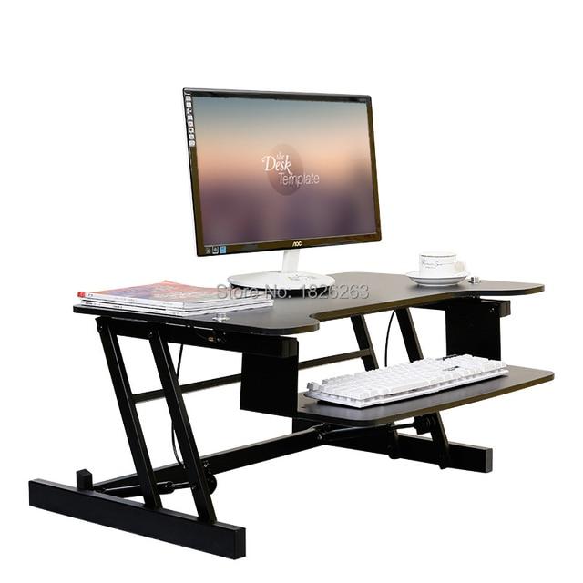 Ergonomique easyup hauteur r glable sit stand riser bureau pliable bureau d 39 ordinateur portable - Hauteur standard bureau ordinateur ...