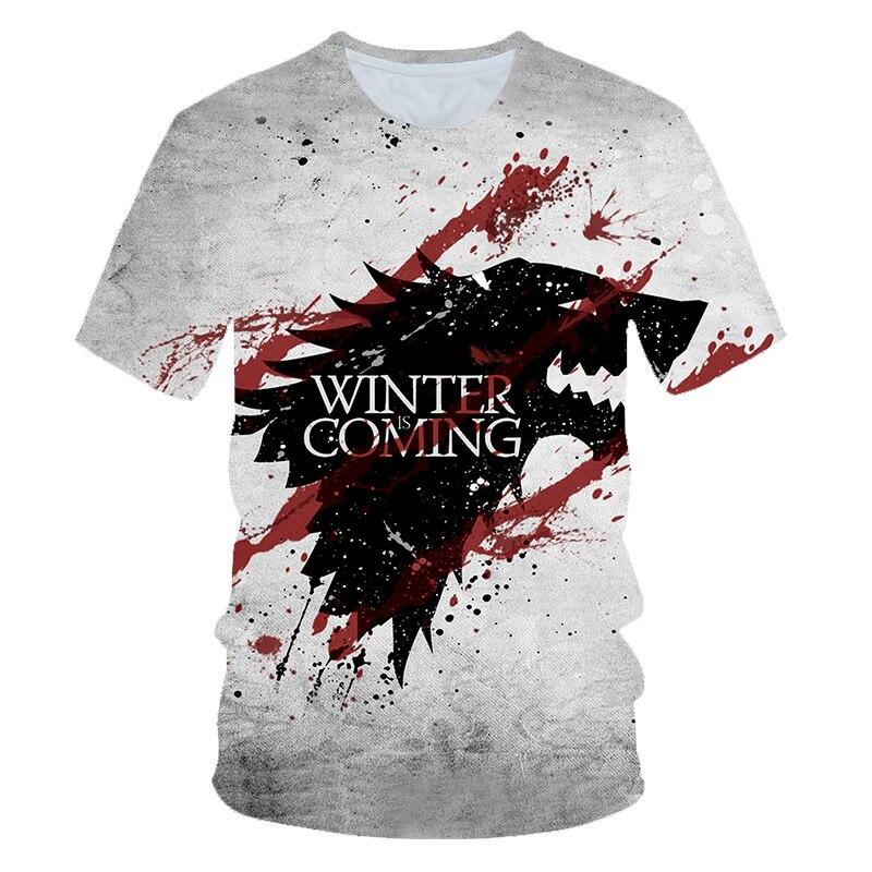2019 plus récent T-shirt Game of Thrones T-shirt nuit roi & Dragon hommes T-shirt impression 3d T-shirt été Hip Hop manches courtes dracarys