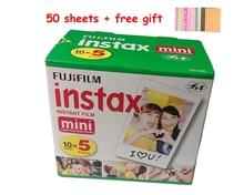 50 peças folhas fujifilm instax mini filme para mini liplay 11 9 8 7s 25 70 90 câmera instantânea mini link pinter branco borda foto papel