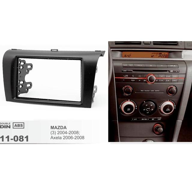 11 081 Coche Radios Fascia Para Mazda  3   Axela Doble Din Fascia Audio Adaptador Est U00e9reo Panel