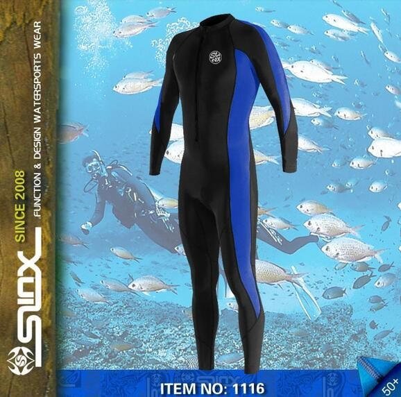 SLIX unisex lycra wetsuit for diving  snorkeling surfing waterskiing PWC beach sunblock jellyfish proof UPF 50+ 10 pieces