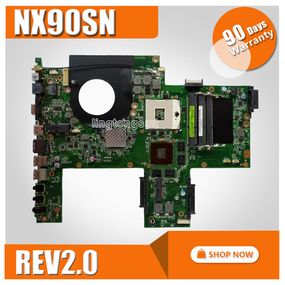 Original for ASUS NX90SN NX90S motherboard mainboard REV 2.0 100% Tested k75de motherboard qml70 la8371p rev 1a mainboard hd 7670 1g socket fs1 100% test