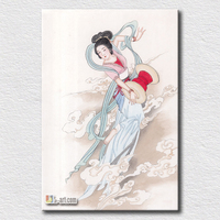 Elegangt Woman Canvas Prints Chinese Stytle Ptinting Beautiful Wall Prints Ancient Woman Print